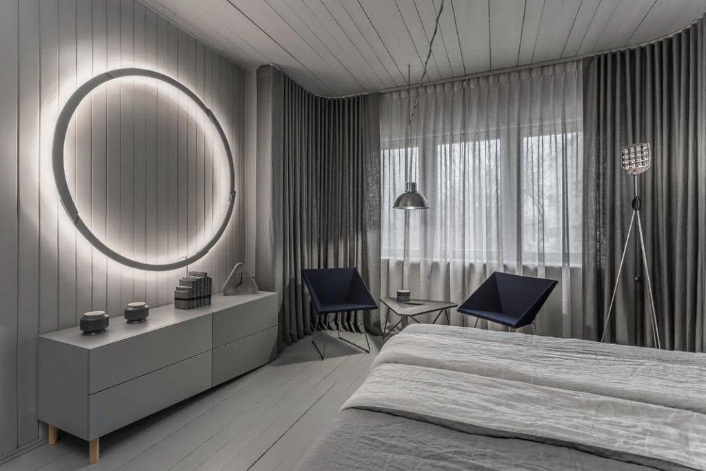Projekt sypialni autorstwa Tomasza Pągowskiego.
