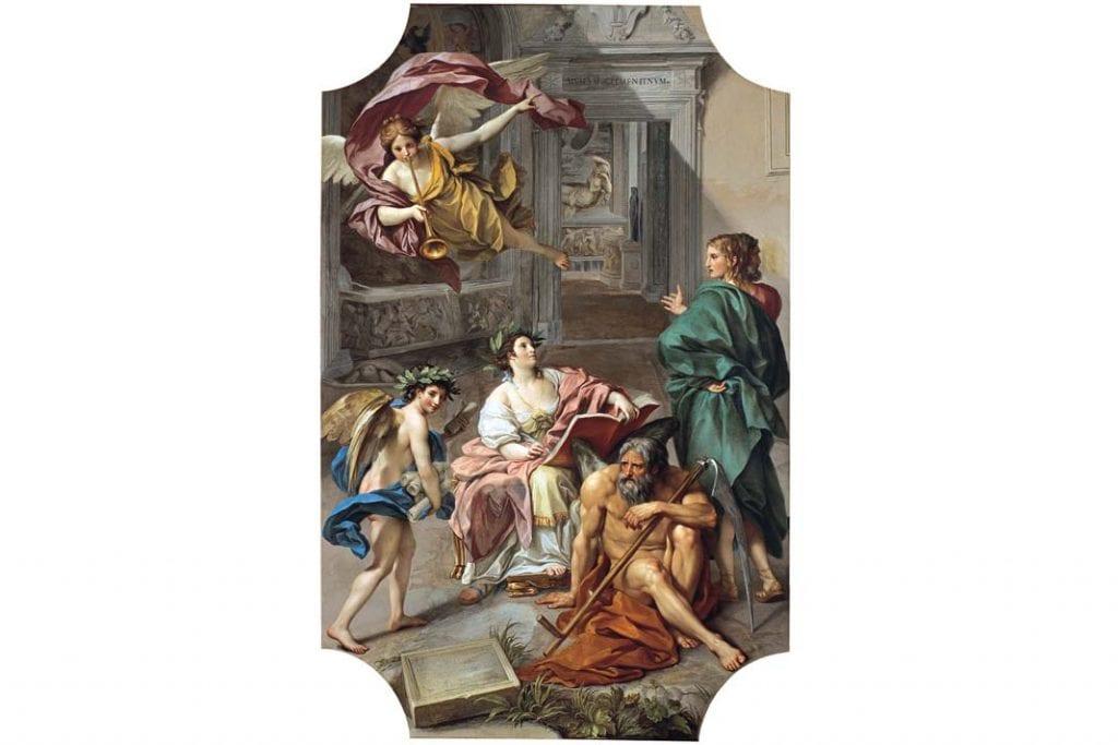Anton Raphael Mengos, Alegoria Historii,