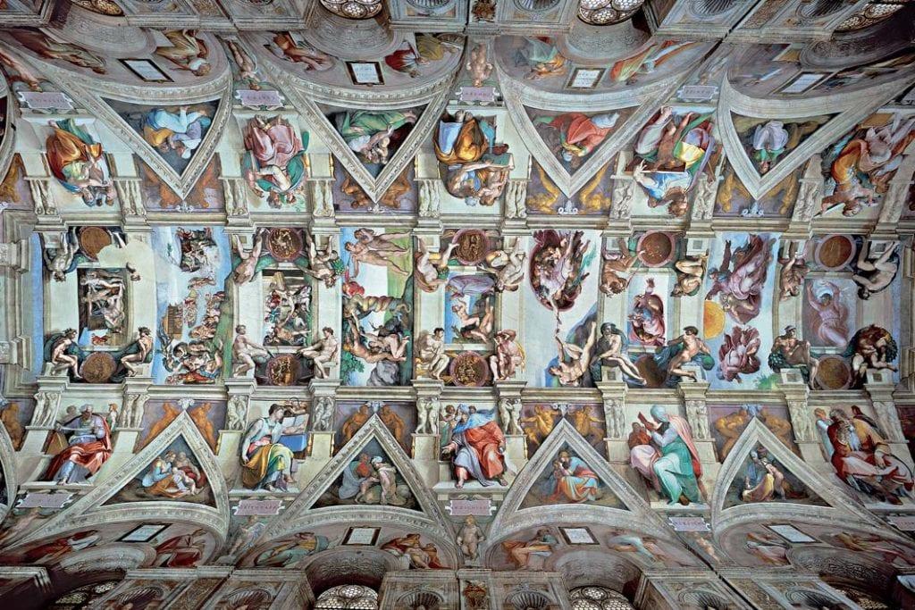 Zdjęcie sklepienia Kaplicy Sykstyńskiej