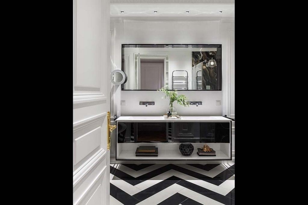 Nowoczesny apartament w Moskwie - łazienka.