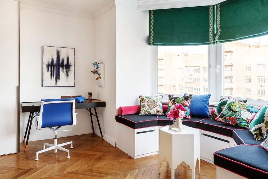 Nowoczesny apartament w Moskwie - pokój nastolatki.