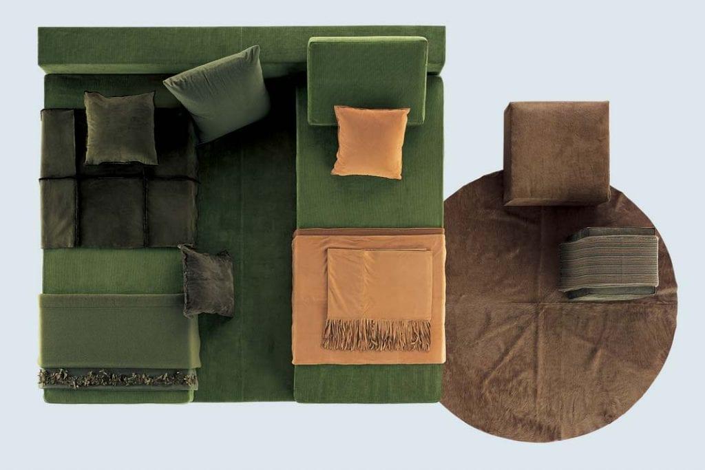 Dzięki możliwości przestawiania materacy, łóżko You&Me może pełnić funkcję łóżka lub sofy w przeróżnych konfiguracjach.