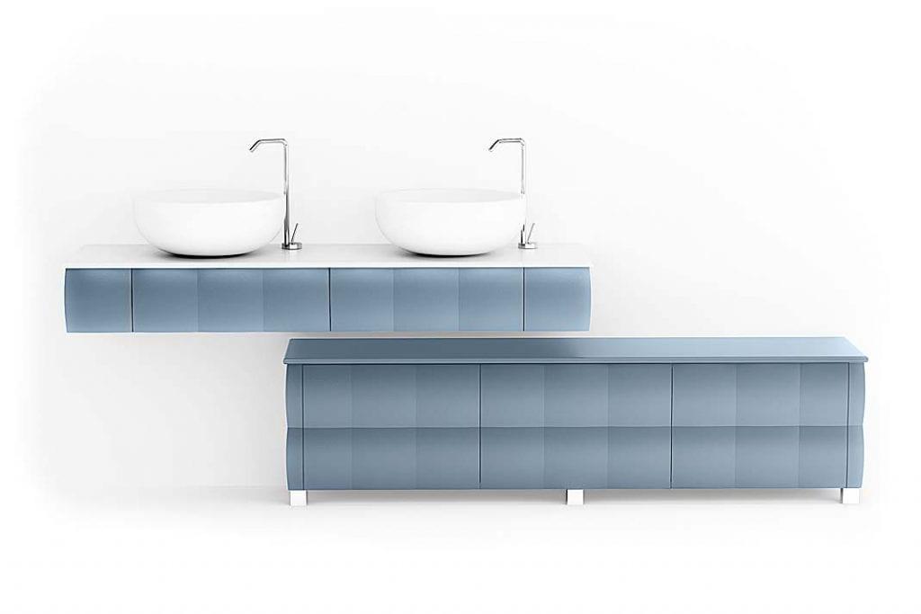 Szafka podumywalkowa Bianchini and Capponi zlinii Collezione Design przypomina obłok