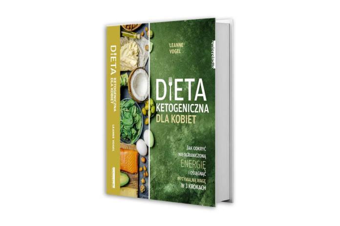 książka Leanne Vogel pod tytułem Dieta ketogeniczna dla kobiet
