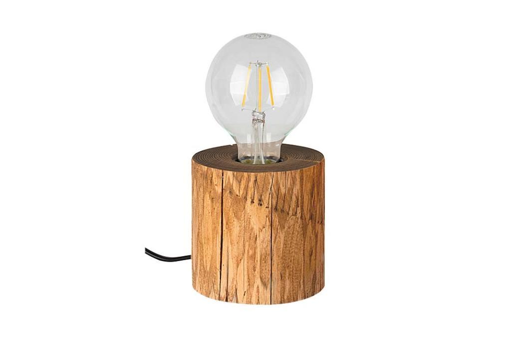 oryginalna lampka wykonana z drewna sosnowego