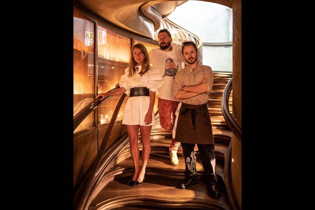 Hide London Reastaurant Ollie Dabbous, Yevgeny Chichvarkin and Tatiana Fokina