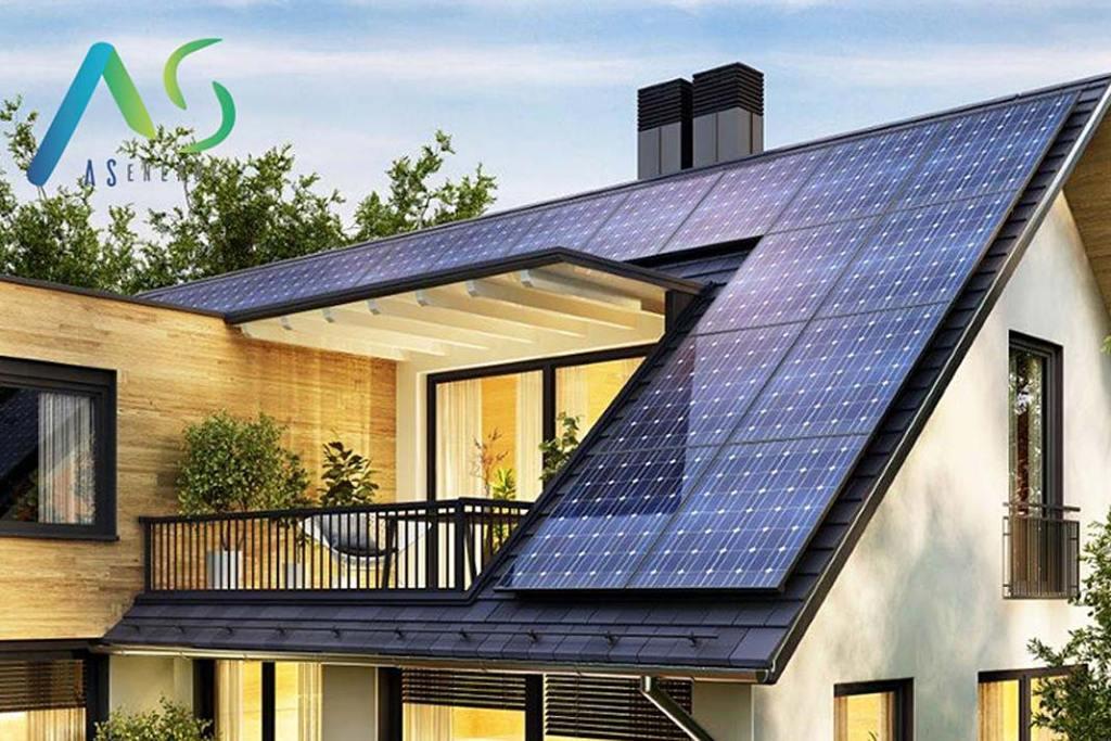 Instalacja fotowoltaiczna na dachu domu jednorodzinnego (firma AS Energy)