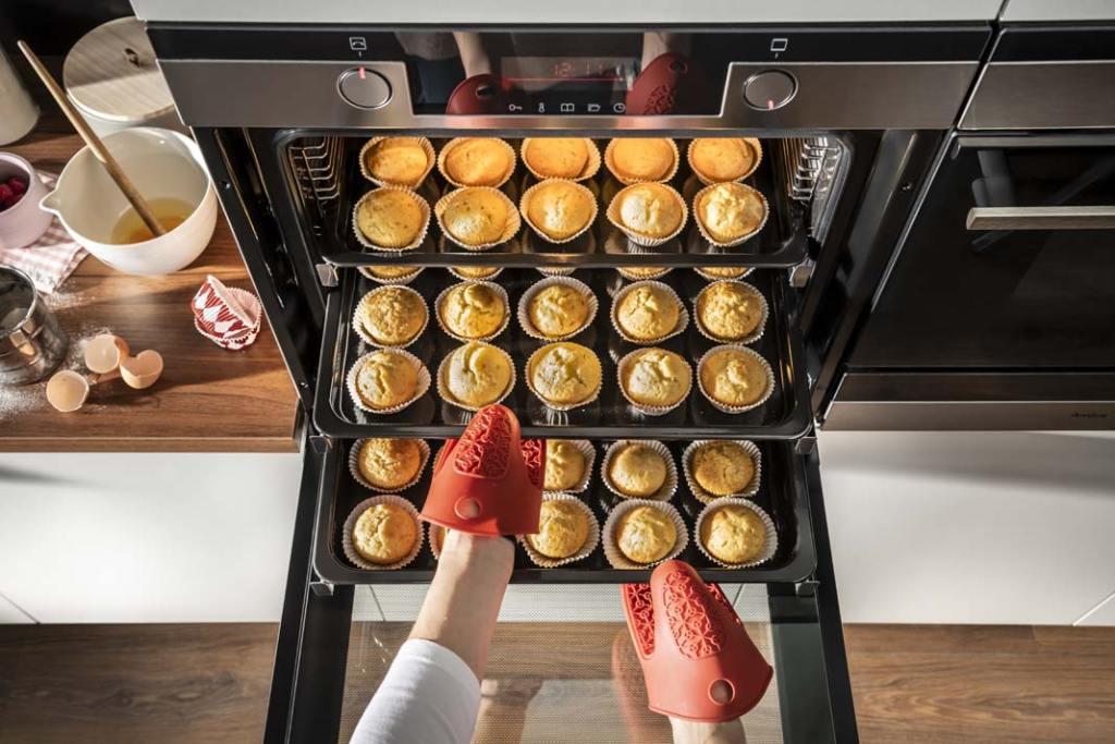 muffinki upieczone w piekarniku firmy Amica