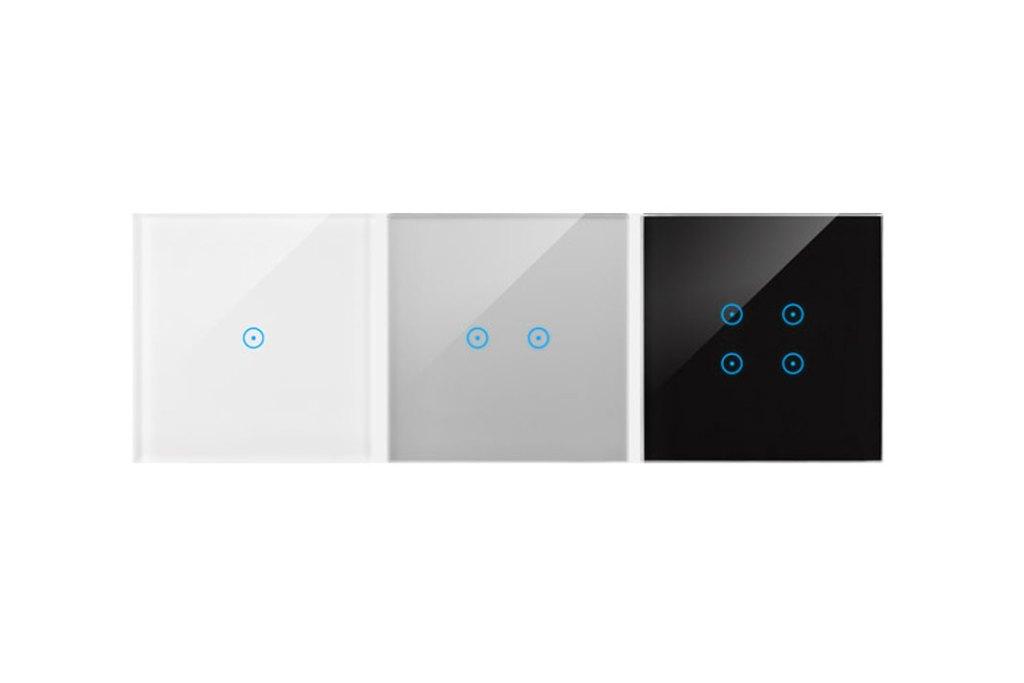 Szklane panele z serii Simon 54 występują w trzech kolorach