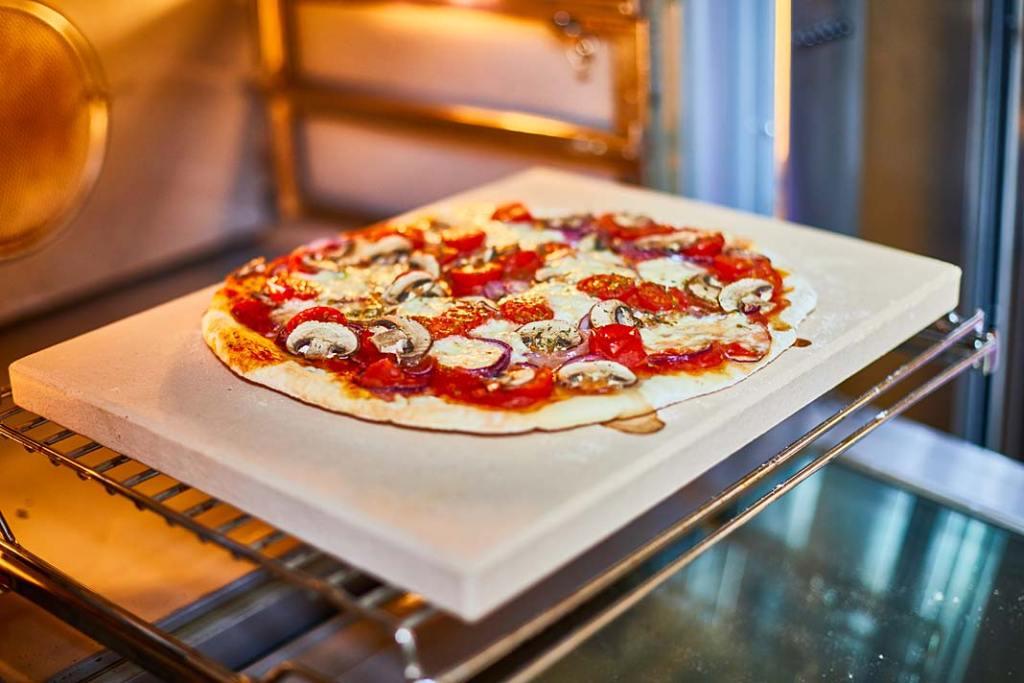 wykonany z szamotu kamień do pieczenia pizzy i chleba Birkmann