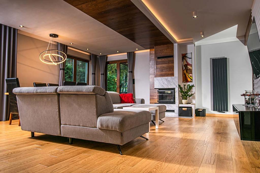 Podłoga drewniana wykonana z desek dębowych FINISHDESKA Dąb Natura