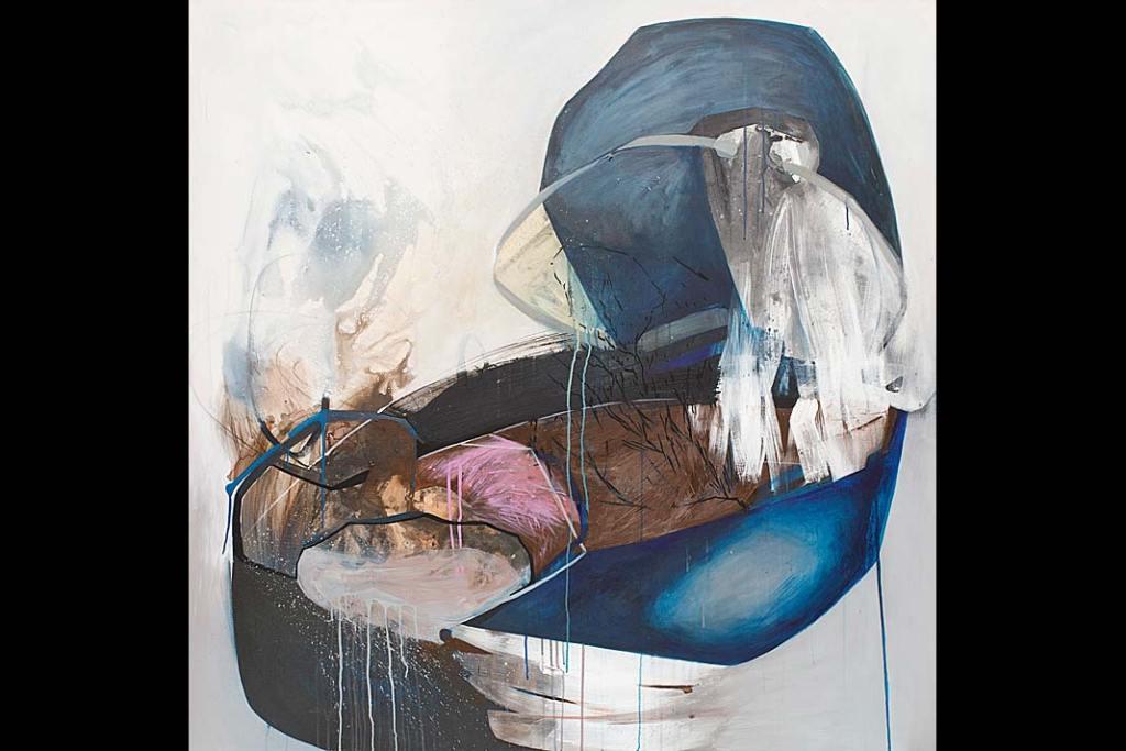 Agata Czeremuszkin-Chrut, Otoczaki 17, 2020 akryl, płótno, 150x150 cm