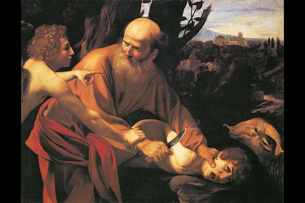 Muzea Florencji. Caravaggio, Ofiara Abrahama, olej na płótnie