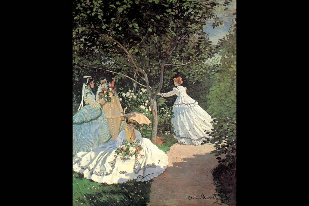 Musée d'Orsay. Claude Monet, Kobiety wogrodzie