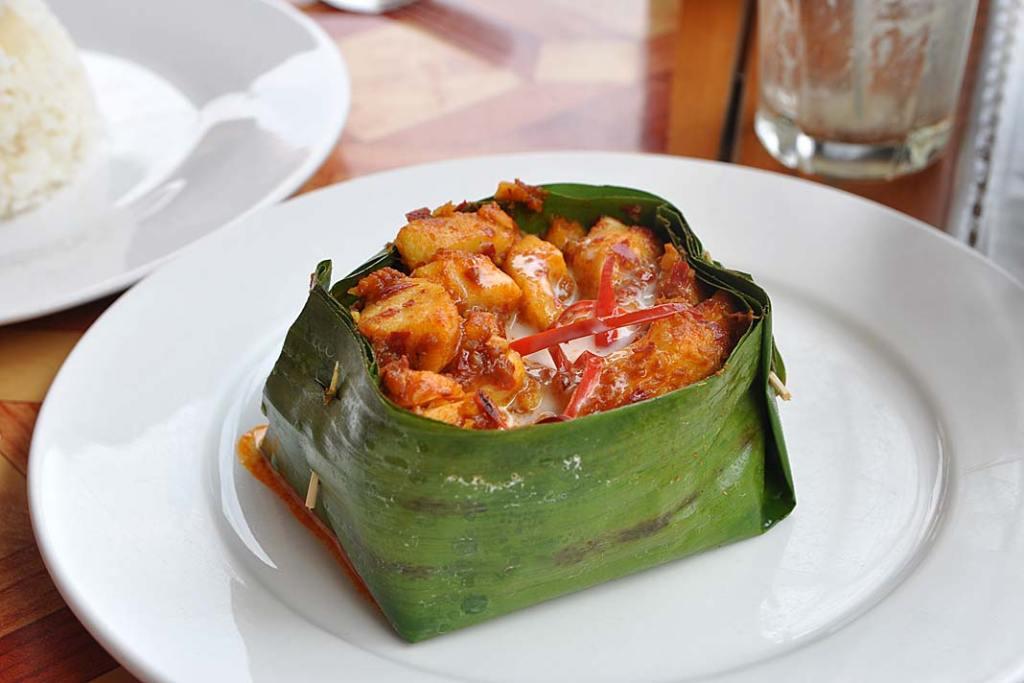 Fish amok - danie kuchni khmerskiej