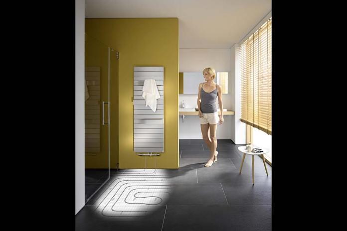 Instalacja ogrzewania płaszczyznowego Kermi w łazience