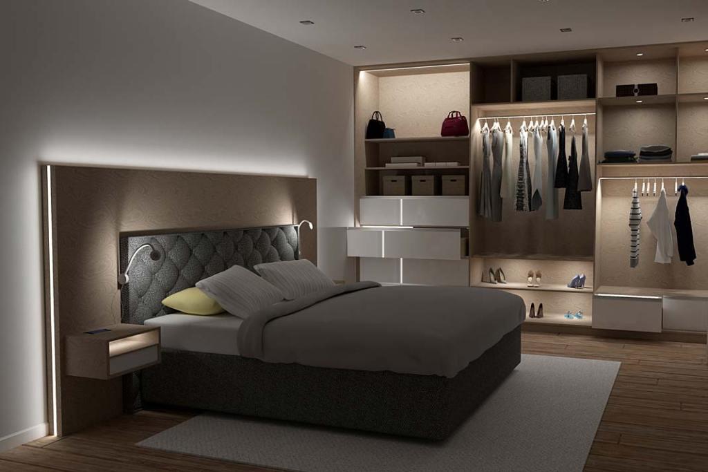 Inteligentne oświetlenie sypialni, Design Light