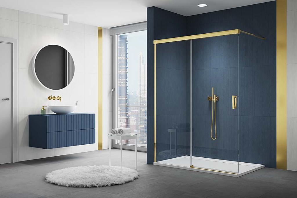 Prysznic w łazience: kabina prysznicowa Cadura Gold marki SanSwiss