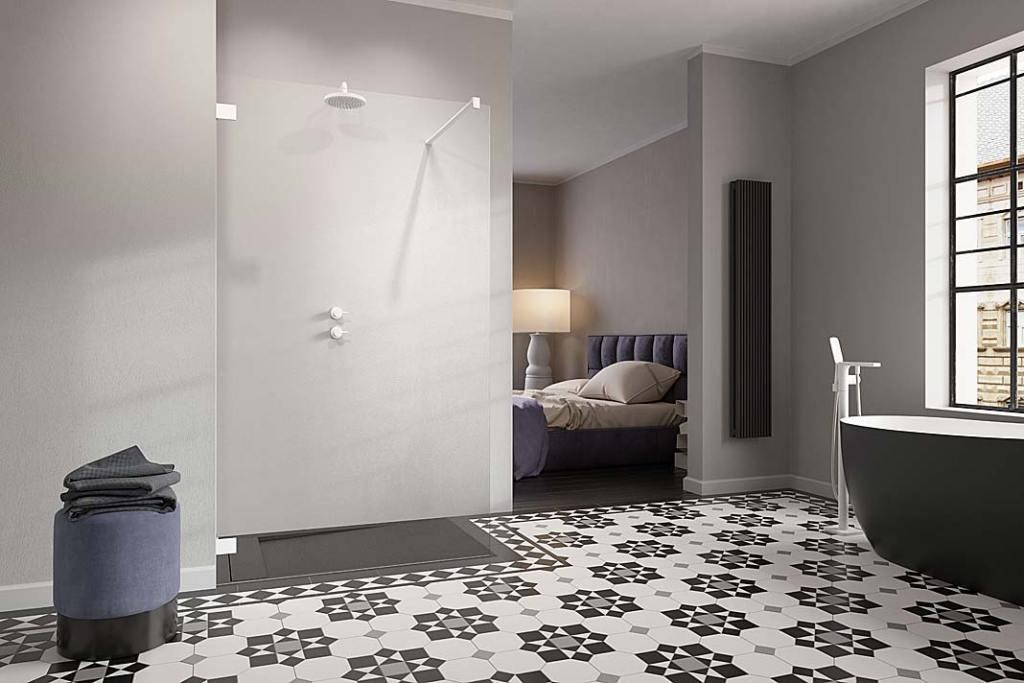 Prysznic w łazience: kabina walk-in Essenza Pro White firmy Radaway