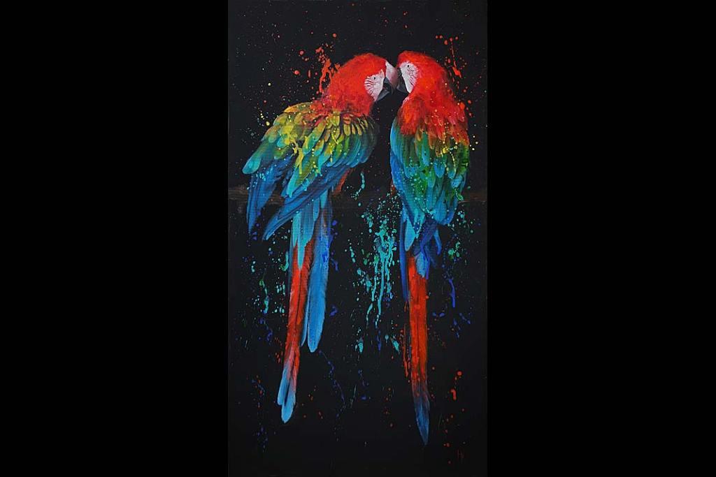 Rynek sztuki. Khrystyna Hladka, The kiss, 2020, akryl, płótno