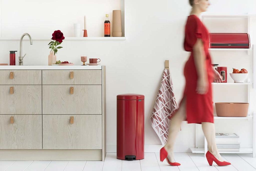 Czerwone dodatki kuchenne. Kolekcja Passion Red marki Brabantia