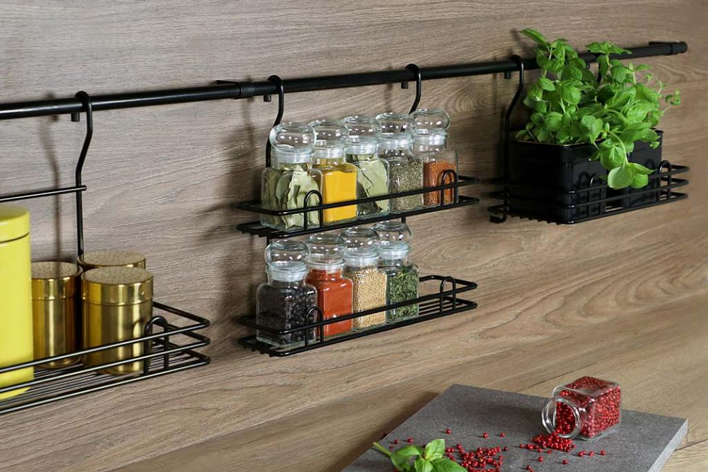 Czarny kolor w kuchni: koszyk podwójny duży MIX-R18 marki Rejs