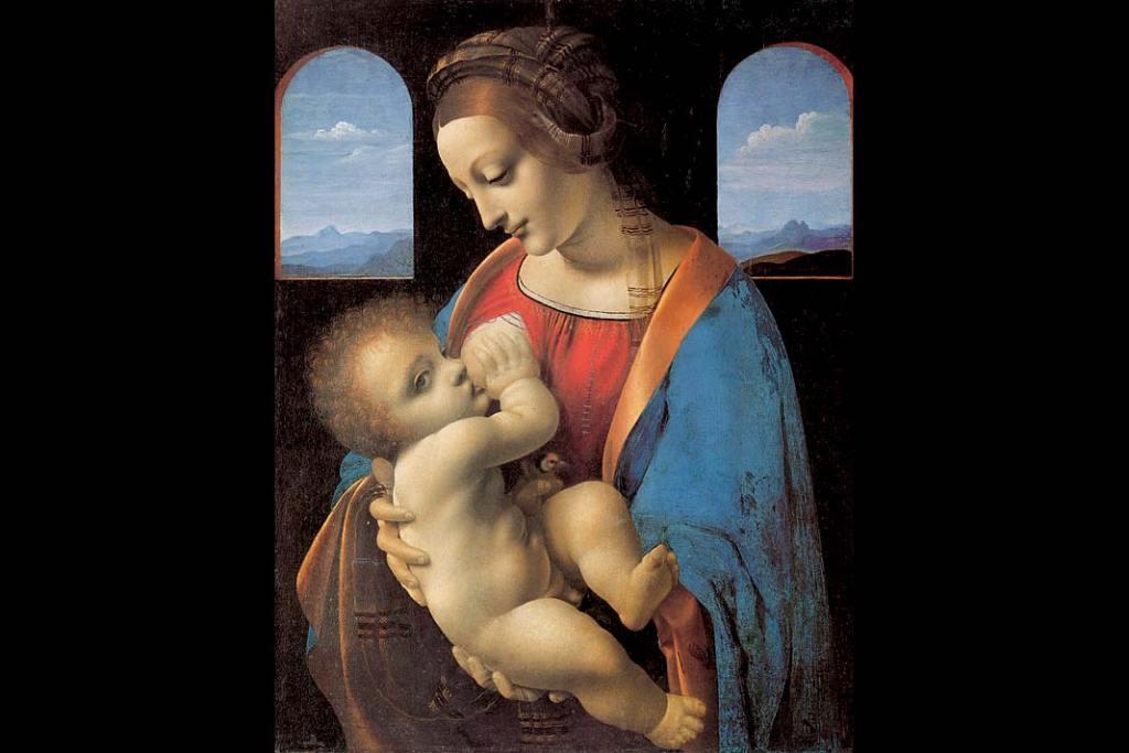 Leonardo da Vinci, Madonna Litta, tempera napłótnie