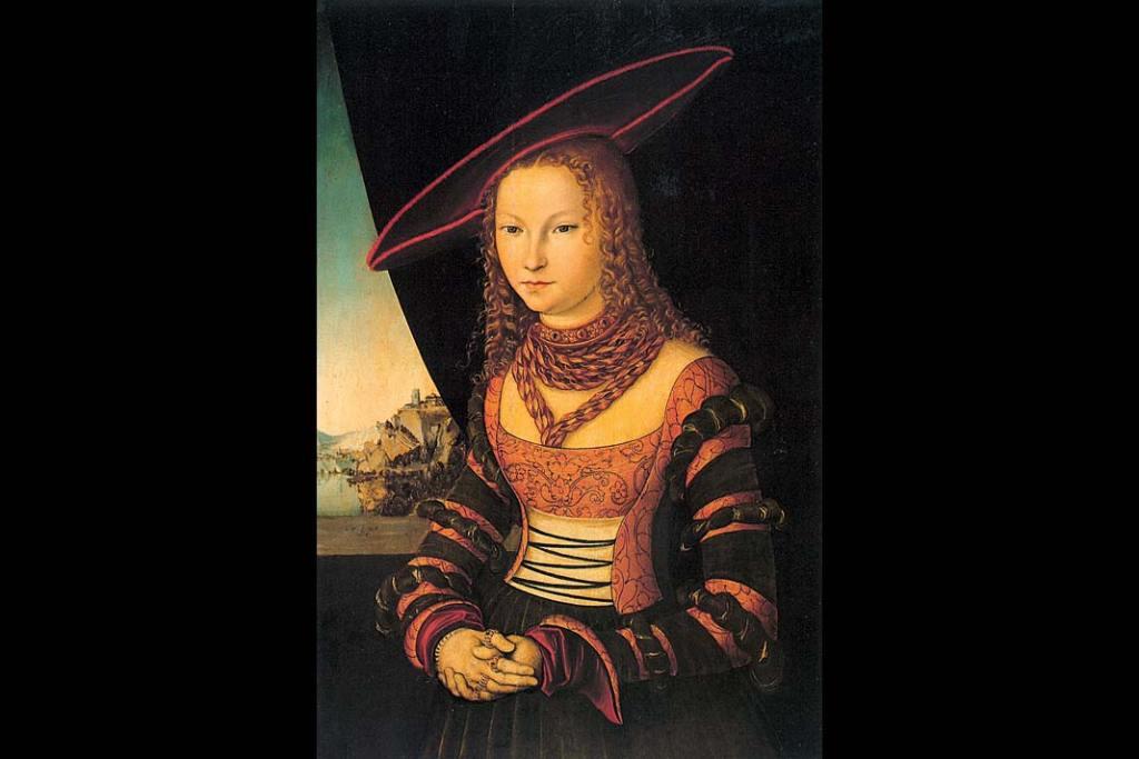 Lucas Cranach starszy Portret Damy