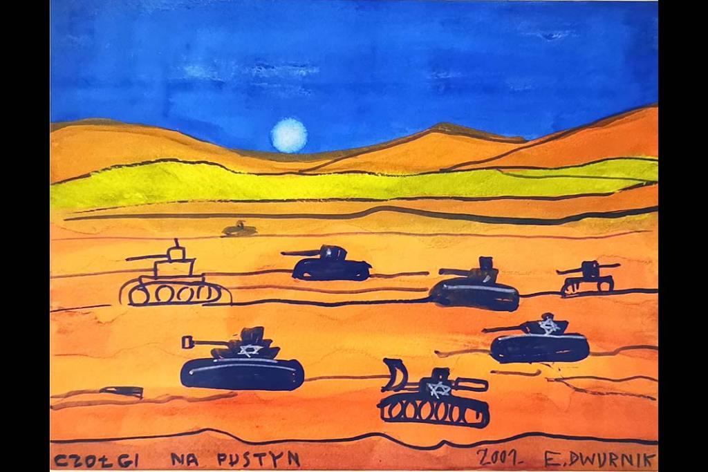 Rynek sztuki: Edward Dwurnik, Czołgi napustyni, 2001