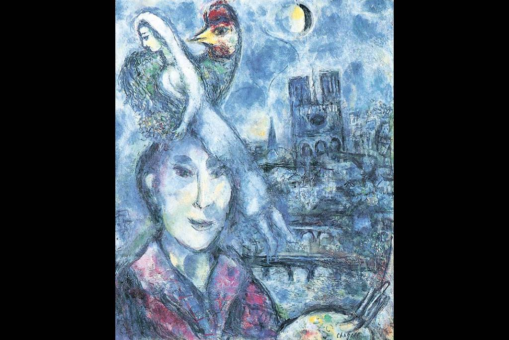 Obraz: Marc Chagall, Autoportret, olej na płótnie