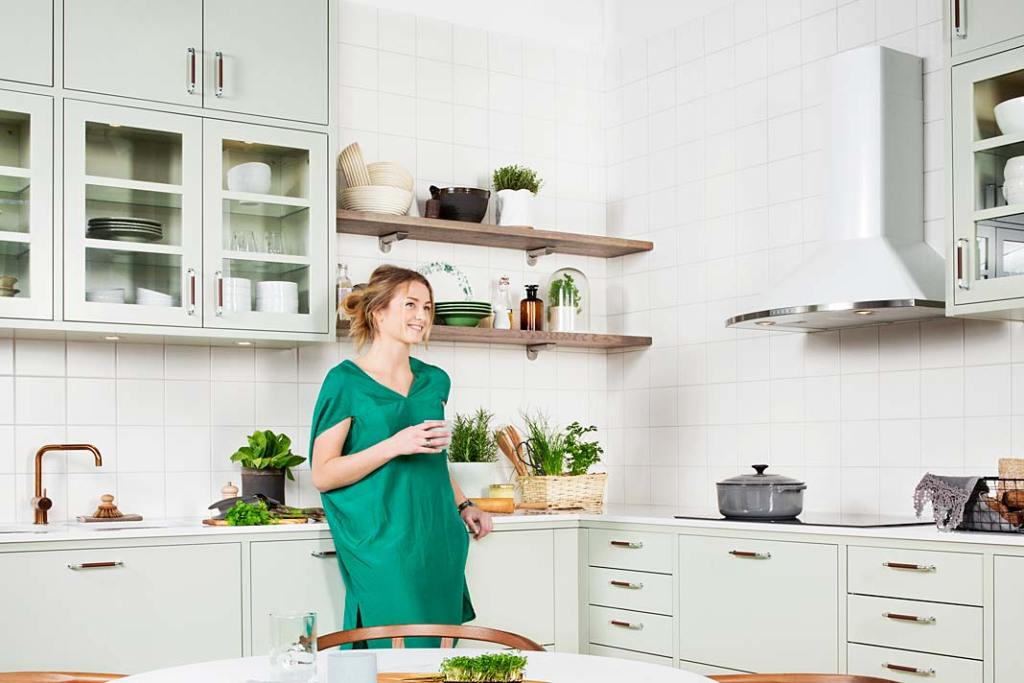 Modna kuchnia w kolorze mięty: meble Bistro Ballingslov