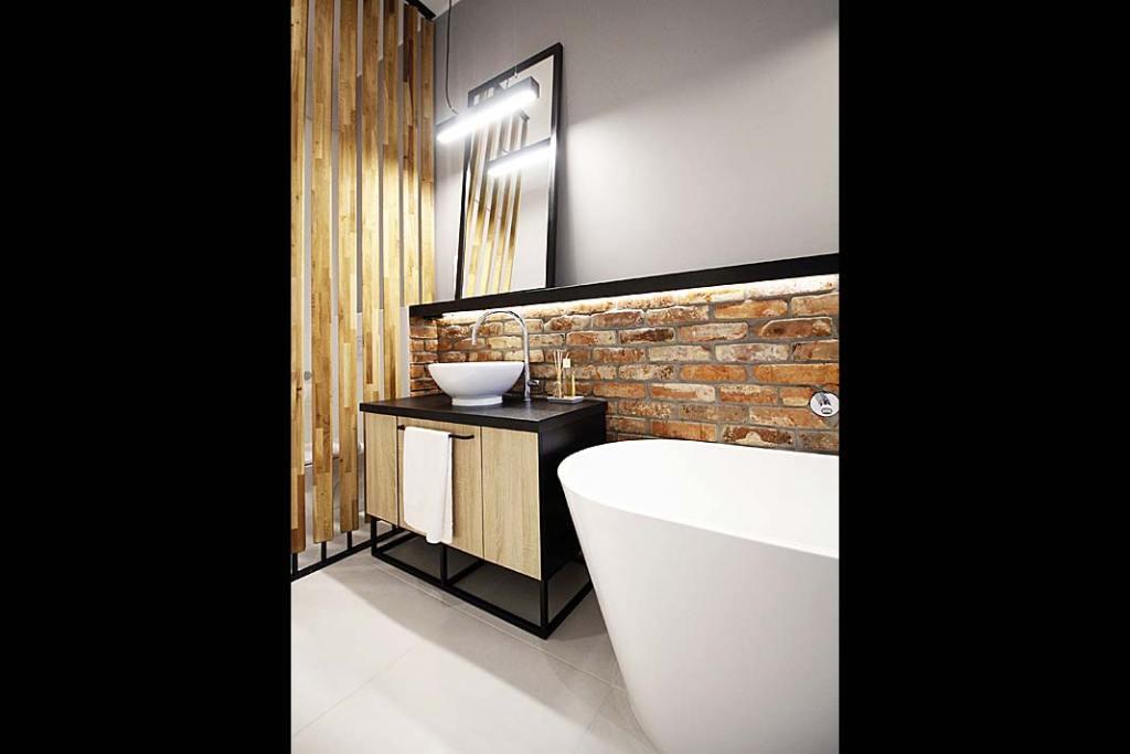 Oświetlenie łazienki, projekt pracowni Kołodziej&Szmyt
