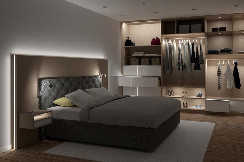 Nastrojowe oświetlenie w sypialni