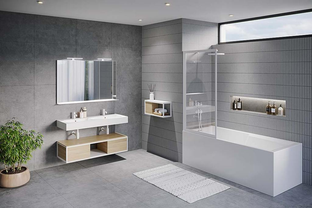 Prysznic w łazience: parawan nawannowy Lucid marki Riho