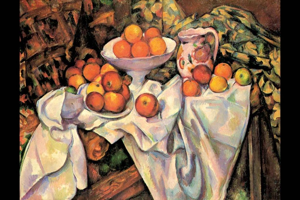 Musée d'Orsay. Paul Cézanne, Jabłka ipomarańcze