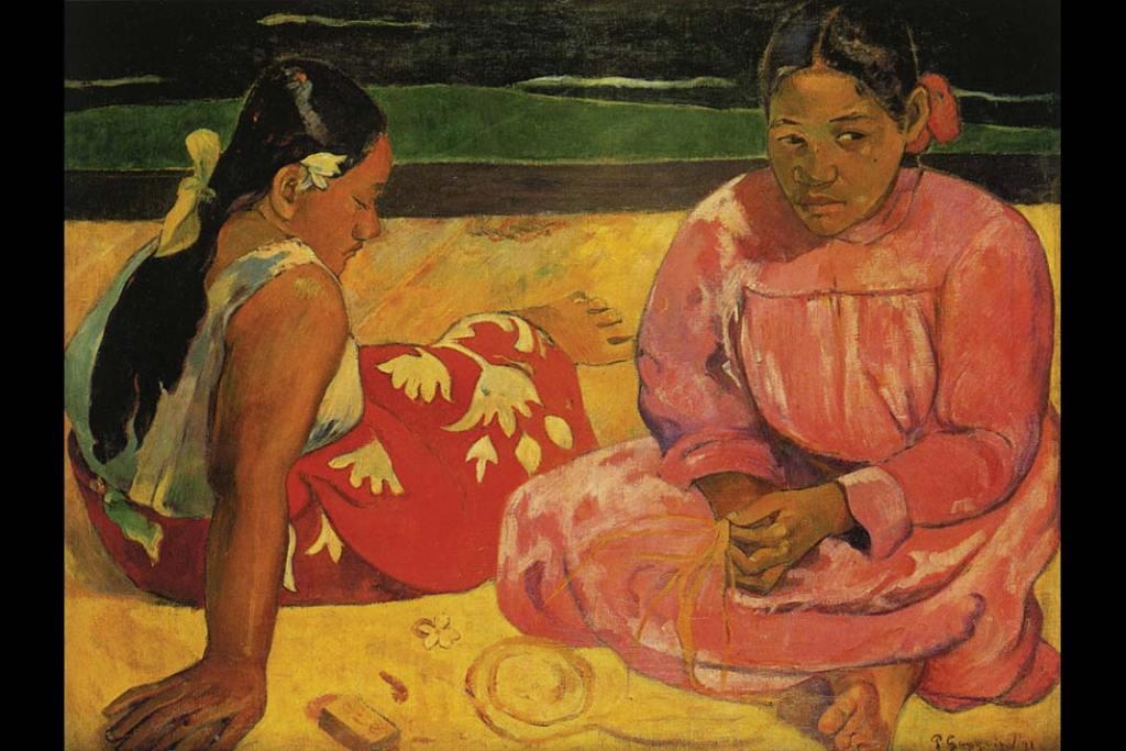 Musée d'Orsay. Paul Gaugin, Kobiety tahitańskie (Naplaży)