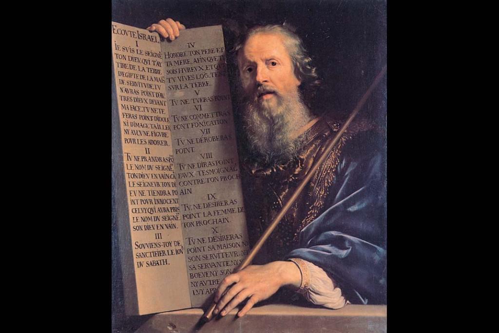 Philippe de Champaigne Mojżesz zdziesięciorgiem przykazań