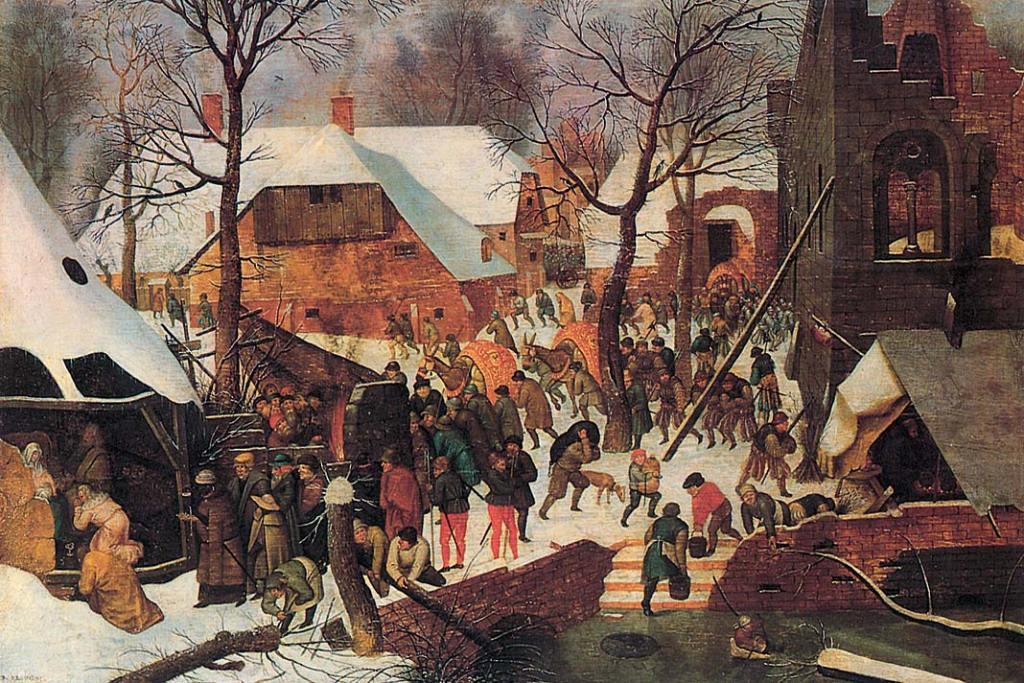 Ermitaż. Pieter Brueghel młodszy, Pokłon Trzech Króli, olej napłótnie