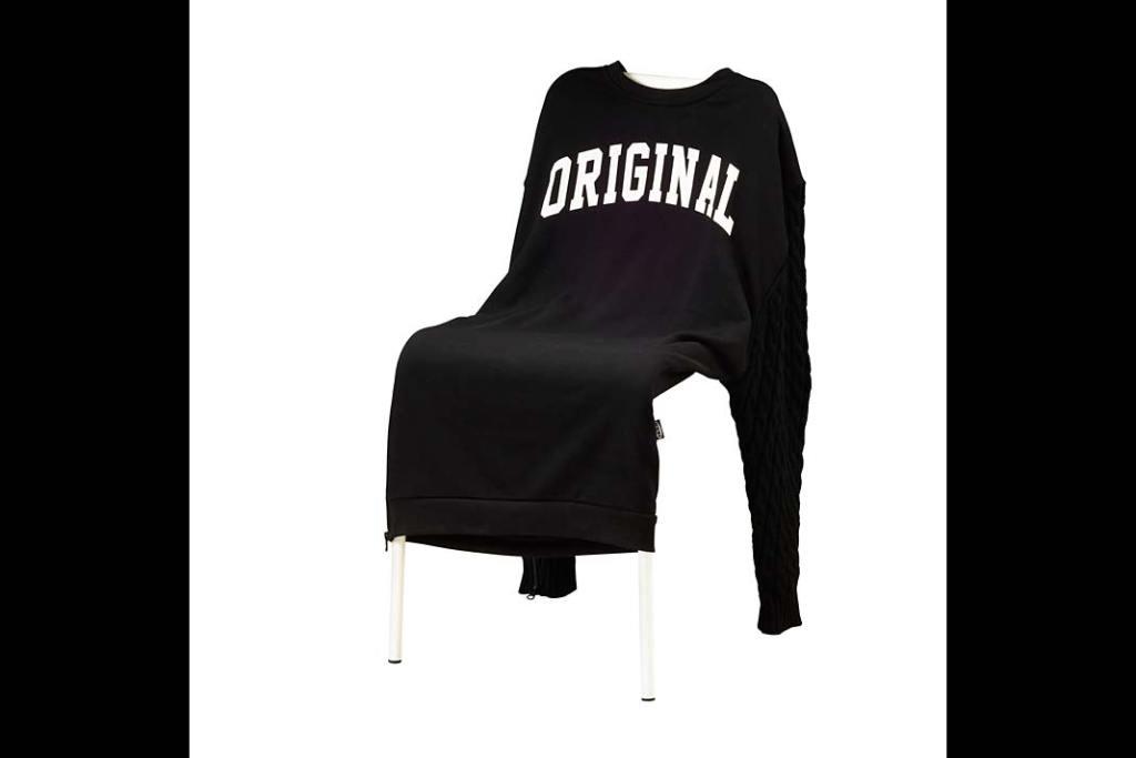 Czarny kolor w kuchni: pokrowiec na krzesło Sammankoppla od IKEA