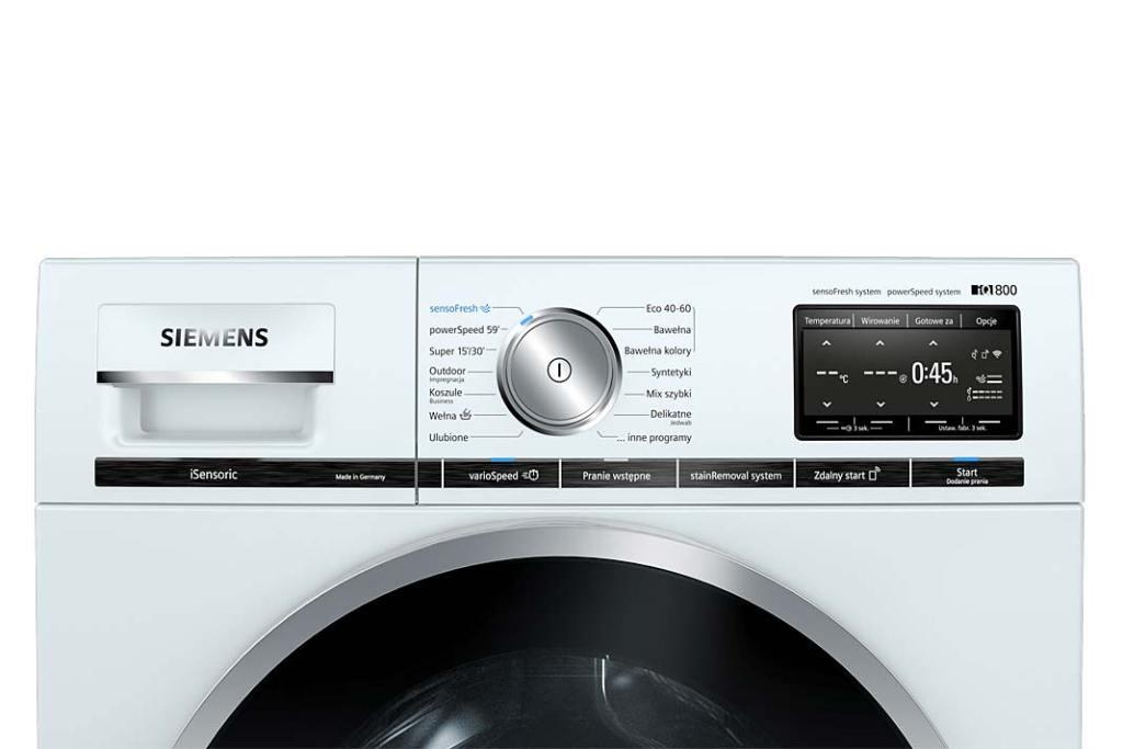 Higiena w łazience. Pralka iQ800 WM6HXF42PL marki Siemens