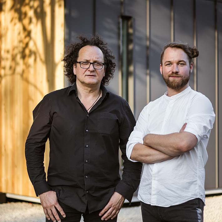 Projektanci Solace House, Piotr Pokorski i Bart Głowacki (od lewej)