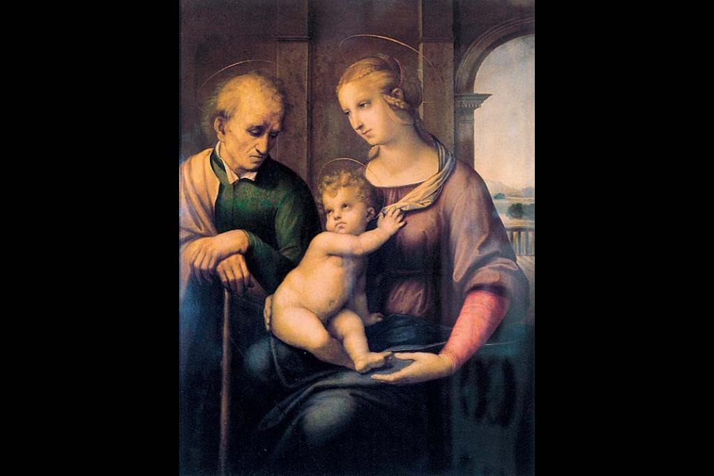 Ermitaż. Rafael, Święta Rodzina (Matka Boska zeŚwiętym Józefem bez brody)