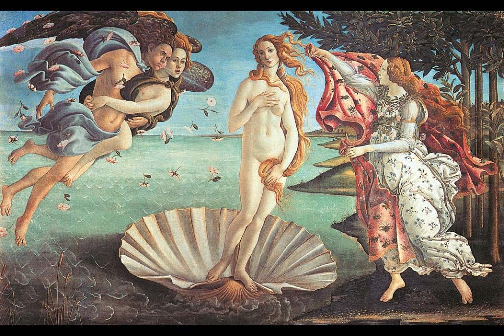 Muzea Florencji. Sandro Botticelli, Narodziny Wenus, tempera na płótnie