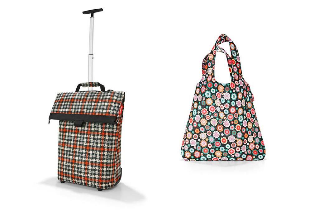 Składana torba nazakupy Reisenthel Mini Maxi Shopper oraz wózek nazakupy Reisenthel Trolley M 43l zteleskopową rączką