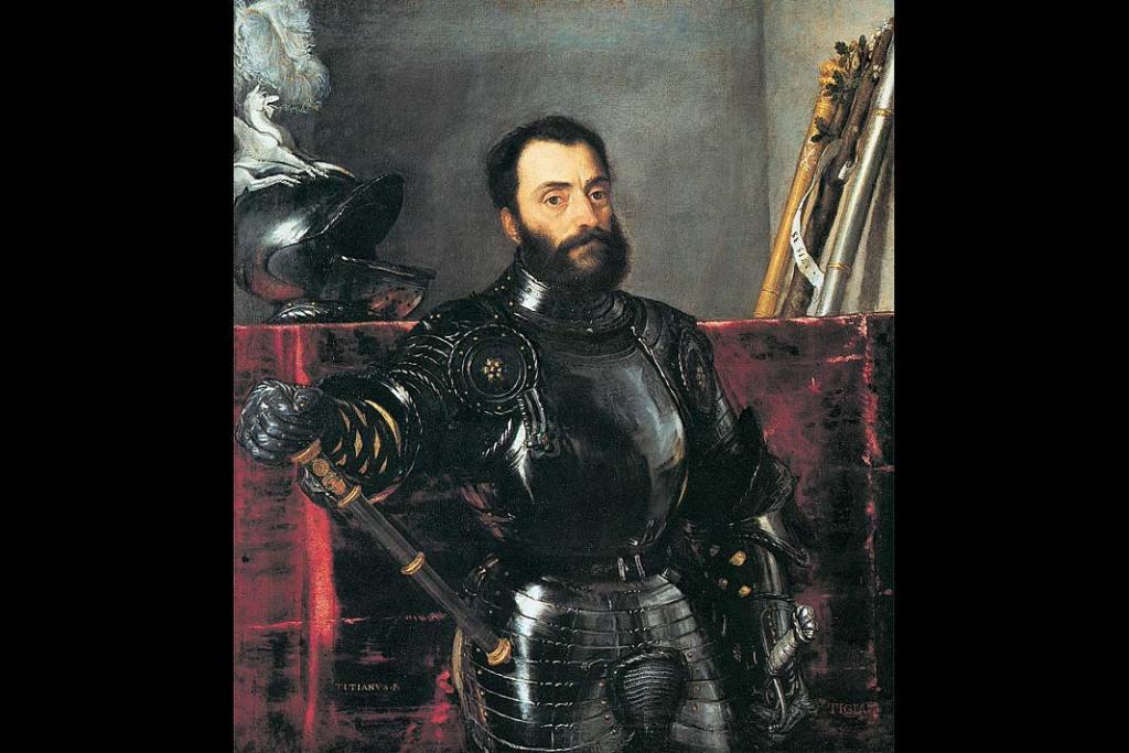 Muzea Florencji. Tycjan, Portret Francesca Marii Dell Rovere, olej na płótnie