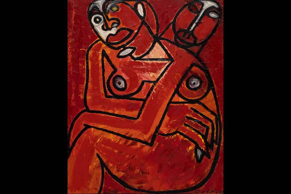 Rynek sztuki. Andrzej Folfas, Kocham Cię, a…, 2006, olej, płótno, 100 x 81cm