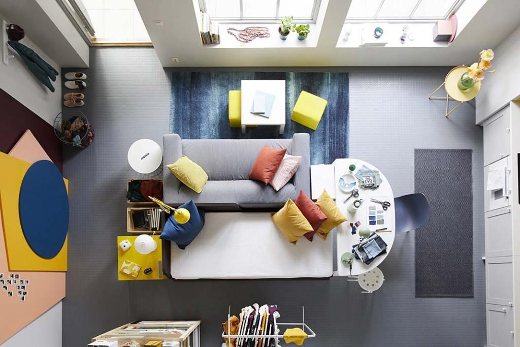 Salon wielofunkcyjny: aranżacja marki IKEA