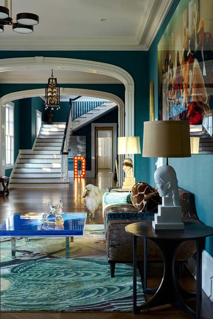 Kolorowe wnętrze apartamentu w Nowym Jorku