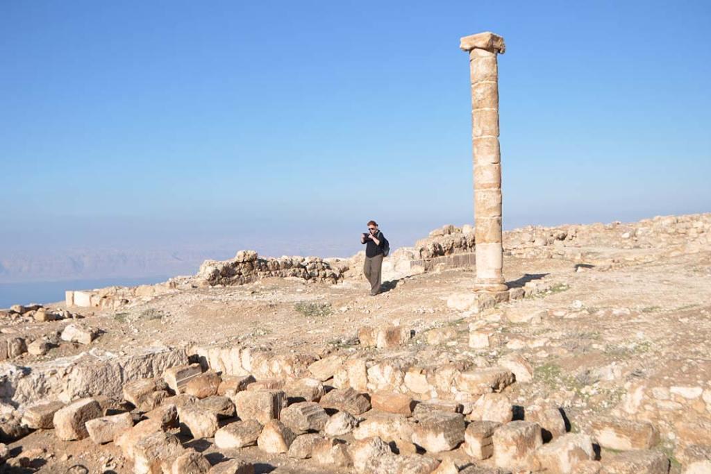 Atrakcje Jordanii: góra Mecheront (Mukawir) zpozostałościami pałacu Heroda