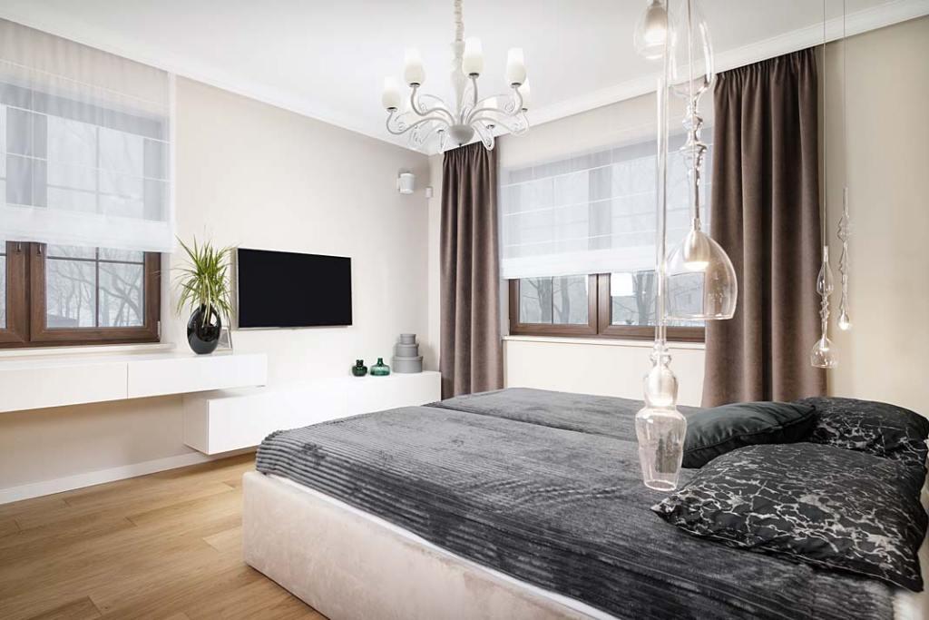 Przytulny dom, gościnna sypialnia. Projekt: Marcelina Rzońca